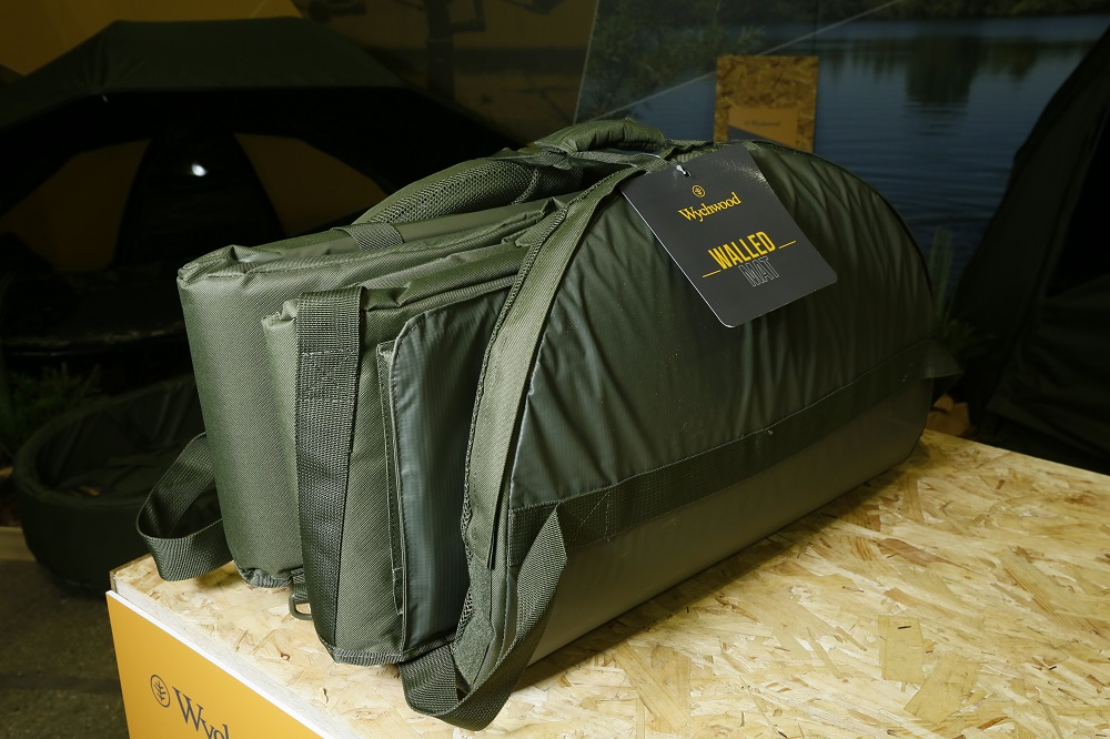 Folded and ready to go, the Walled Unhooking Mat won't weigh you down