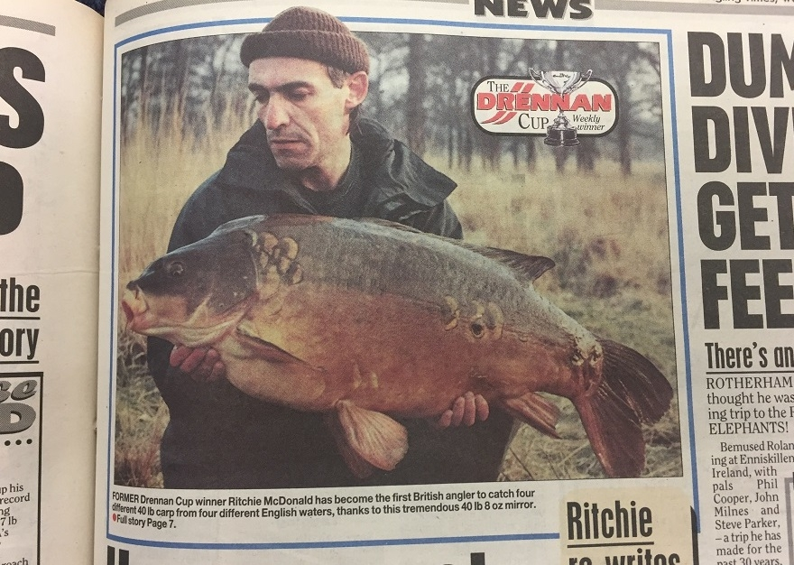 Ritchie McDonald with the Royal Forty