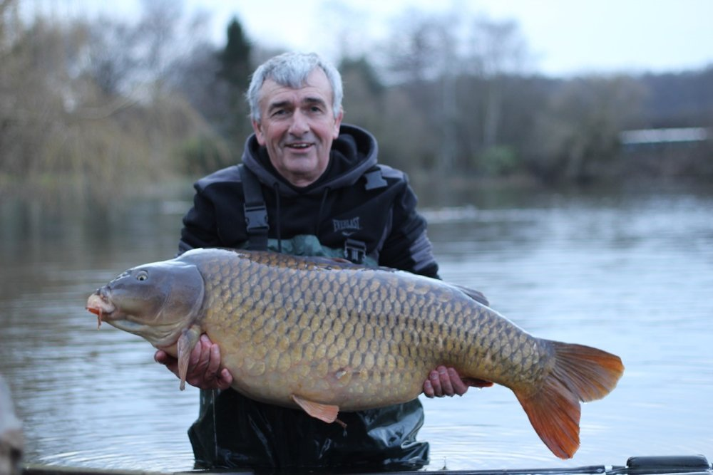 Brian Smith with his new personal best at 52lb 10oz