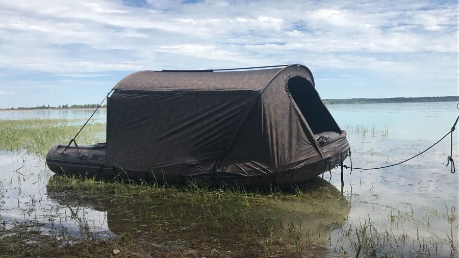 Fox's giant bivvy boat will be on show