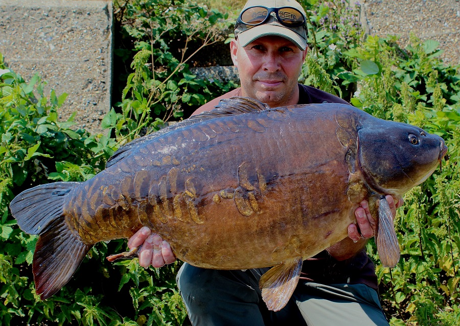 This 41-pounder came from a 485-acre venue and was previously uncaught