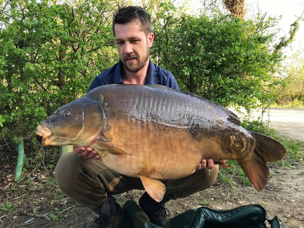 This 44lb 6oz mirror is a new lake record at B1