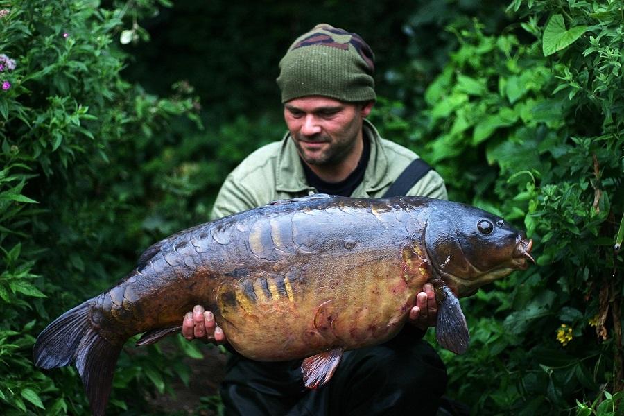Big scaly English carp are Oz's preferred quarry
