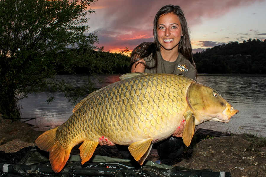 Claudia's new pb at 54lb 7oz