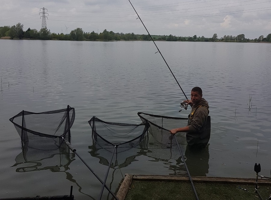 Three nets and two slings all containing fish!