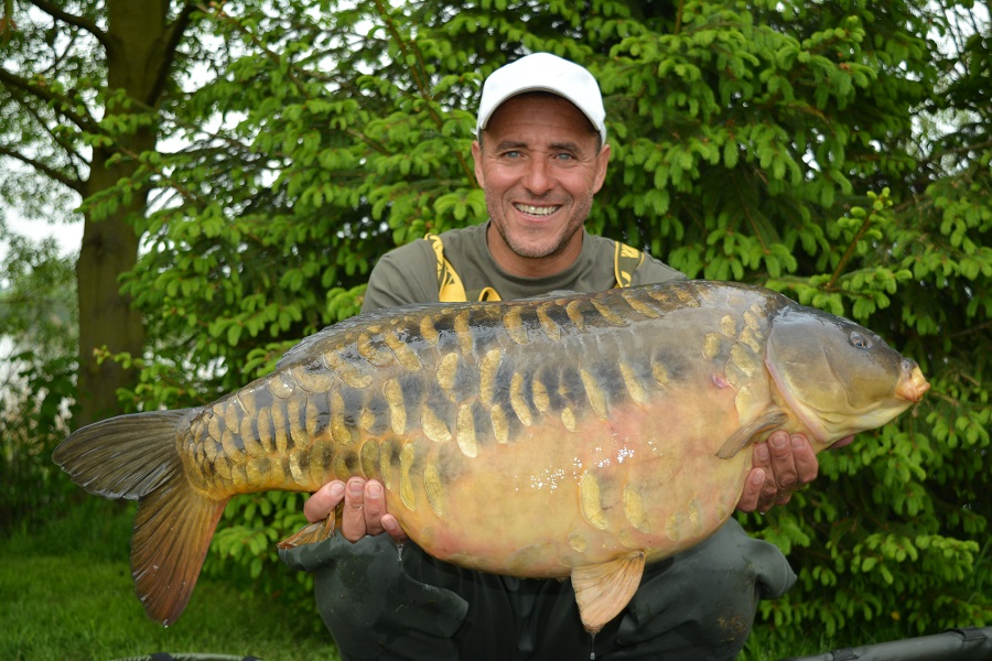 Grenville's scaly mirrors are coming through. This one weighed 36lb 8oz