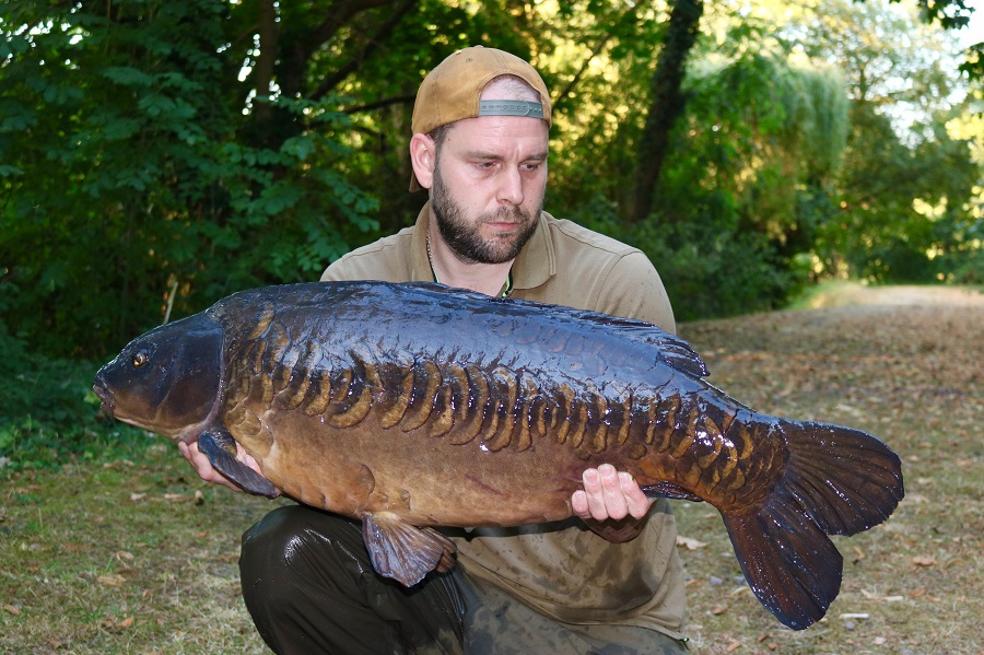 One of the original Longfield fish that moved to Horton Church Lake