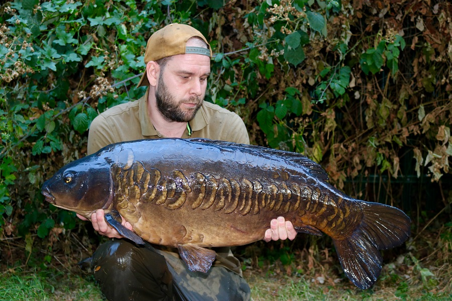 The fish weighed 38lb 1oz
