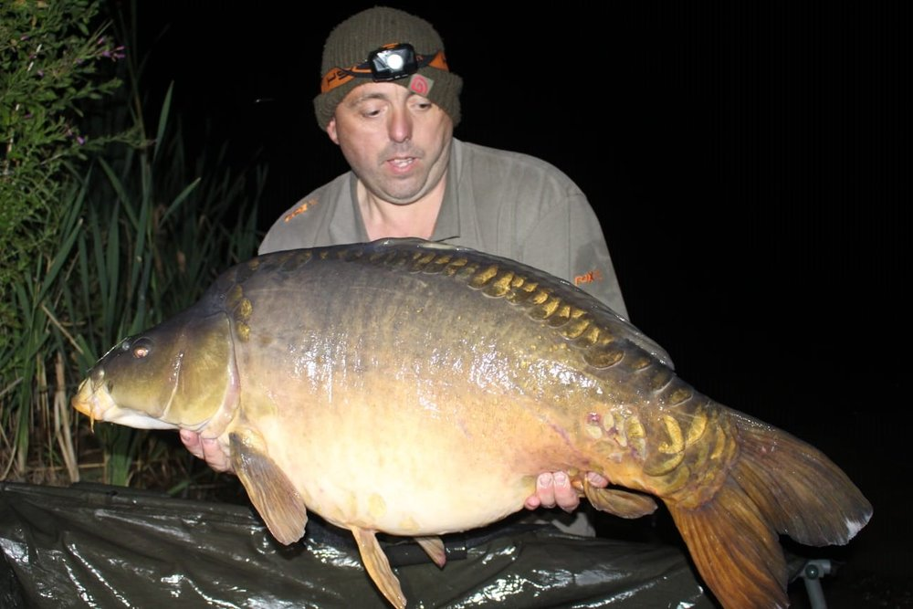 The first bite produced this 43lb 10oz mirror