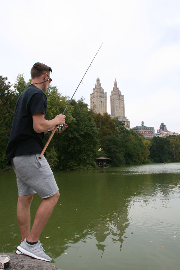 Jonas in action in front of the San Remo apartments building at Central Park