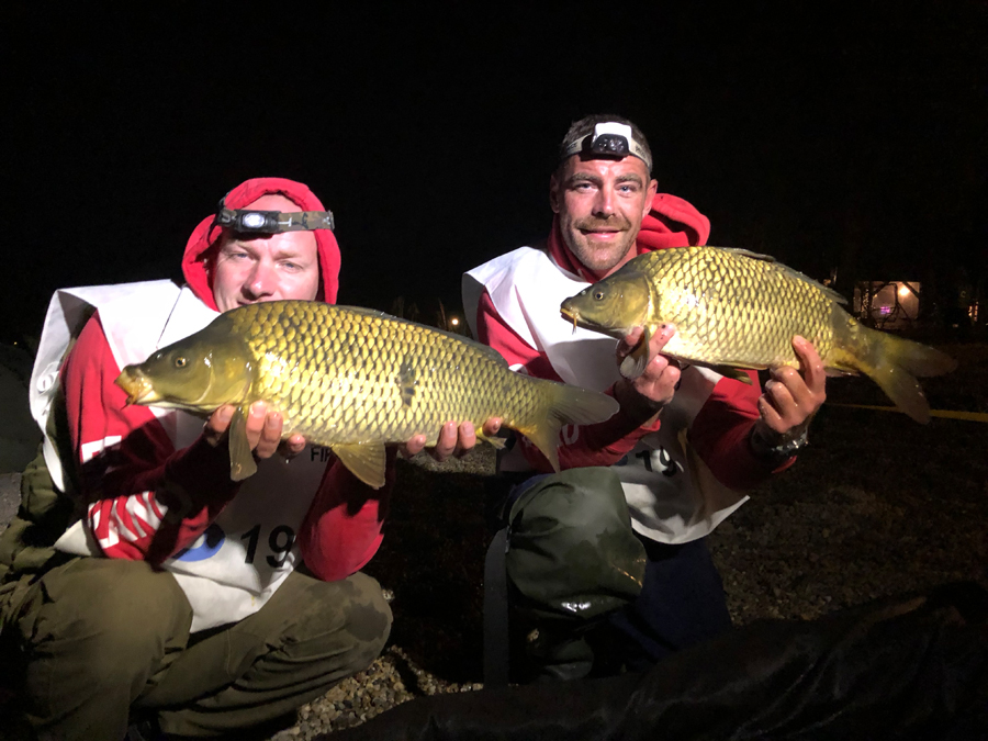 Wayne and Ryan landed the most fish for England