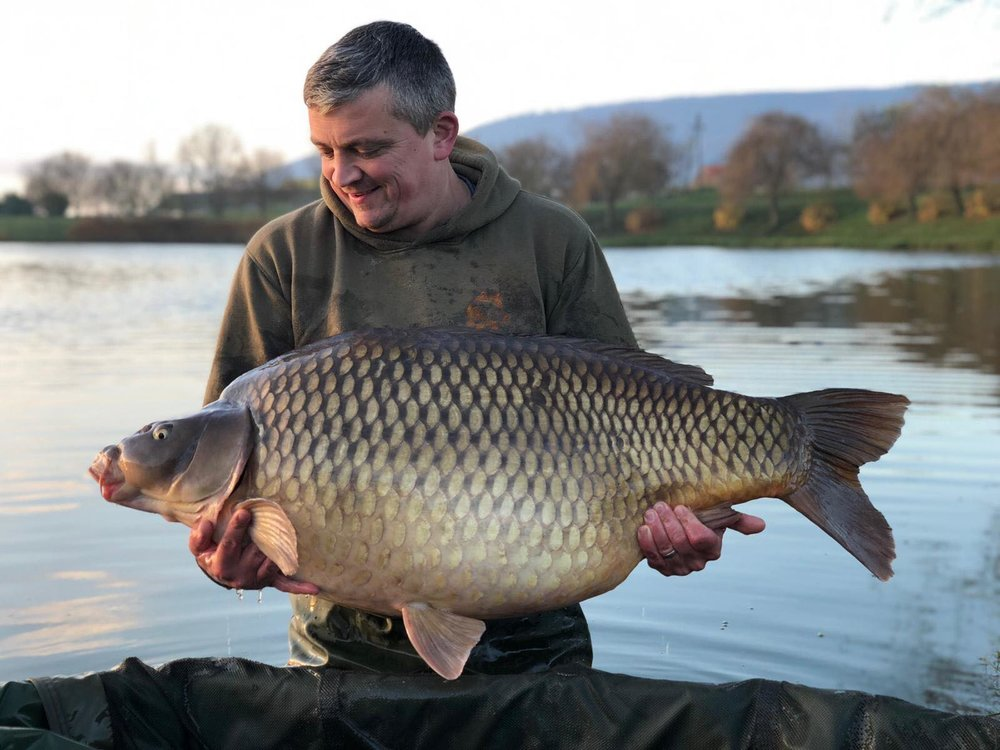 Luke had only just returned from Euro Aqua, where this 79lb common was his best fish