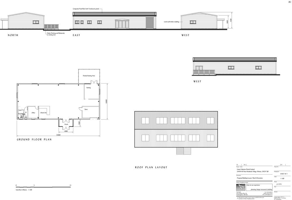 The plans for the new shop include an outdoor decking area