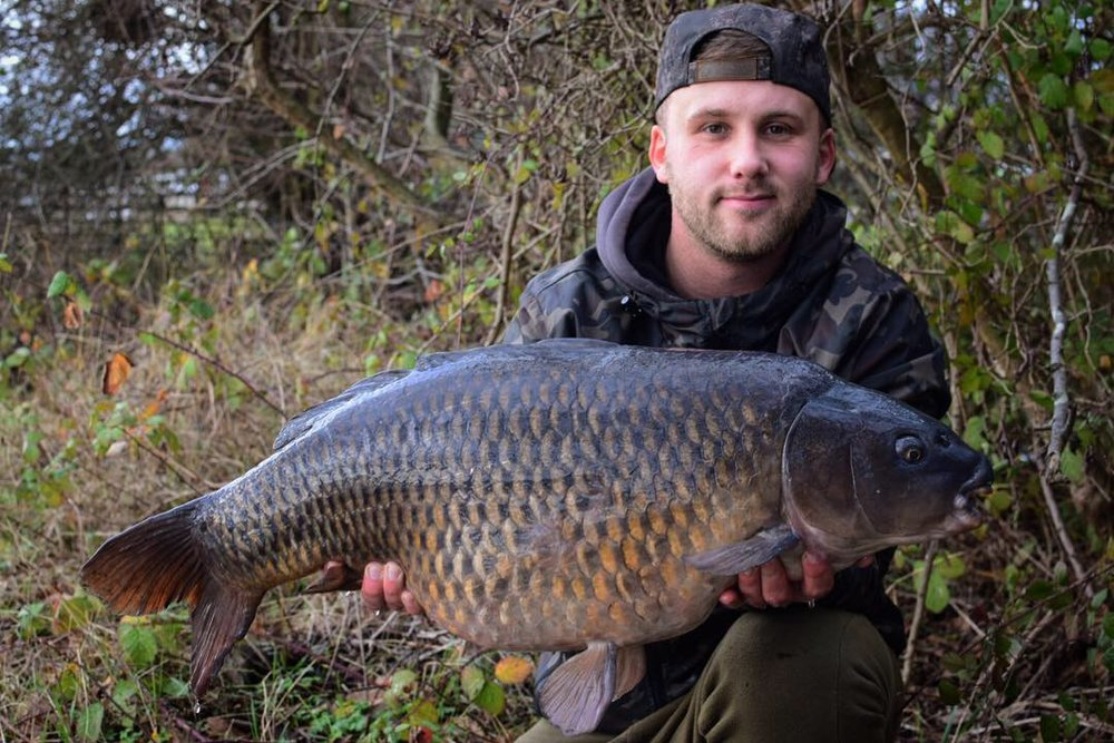 This 26lb 1oz common is the fourth carp Kyle has had from the same spot since November