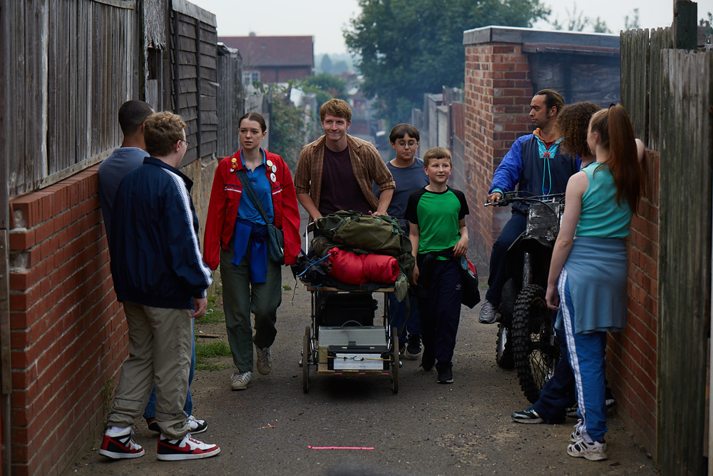 Trevor (Tom Varey) leads a gang of youngsters to the local pond in search of 'Nessie'