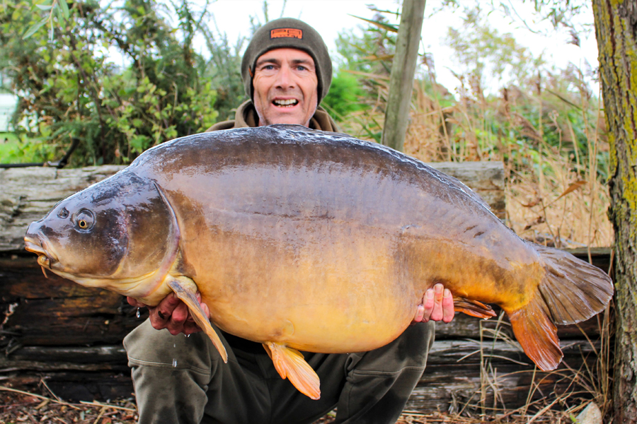 Justin with Black Spot at 52lb 8oz from Deepings One