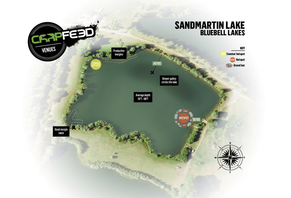 CLICK THE MAP FOR OUR GUIDE TO SANDMARTIN. (Mike's fish came from bottom left)