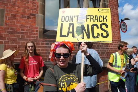 Scottish activists in Lancashire in 2015.