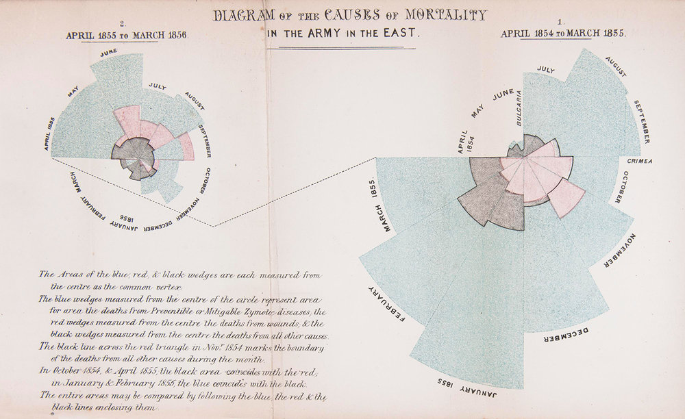 Florence Nightingale's polar area diagram offered a powerful new insight into the carnage of the Crimea
