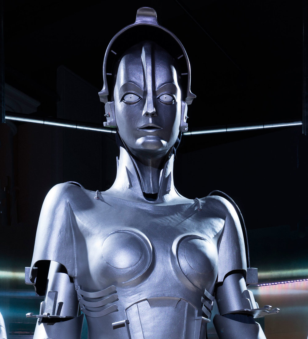 Maria, the first blockbuster robot, designed by Walter Schulze-Mittendorff for the film Metropolis, Germany, 1927 (this replica 2016)