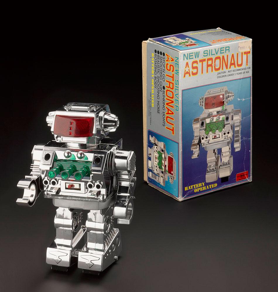 'New Silver Astronaut' Robot, 1970, Horikawa, Japan