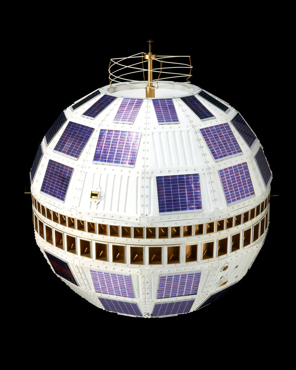 A replica of the Telstar I communications satellite (1962)