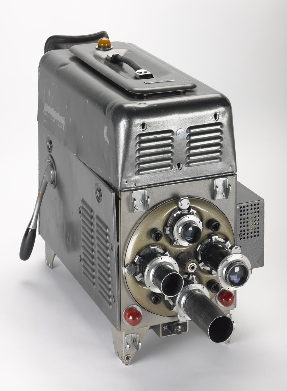 Marconi Mark II television camera head, made by Marconi's Wireless Telegraphy Company Limited (1951). More information