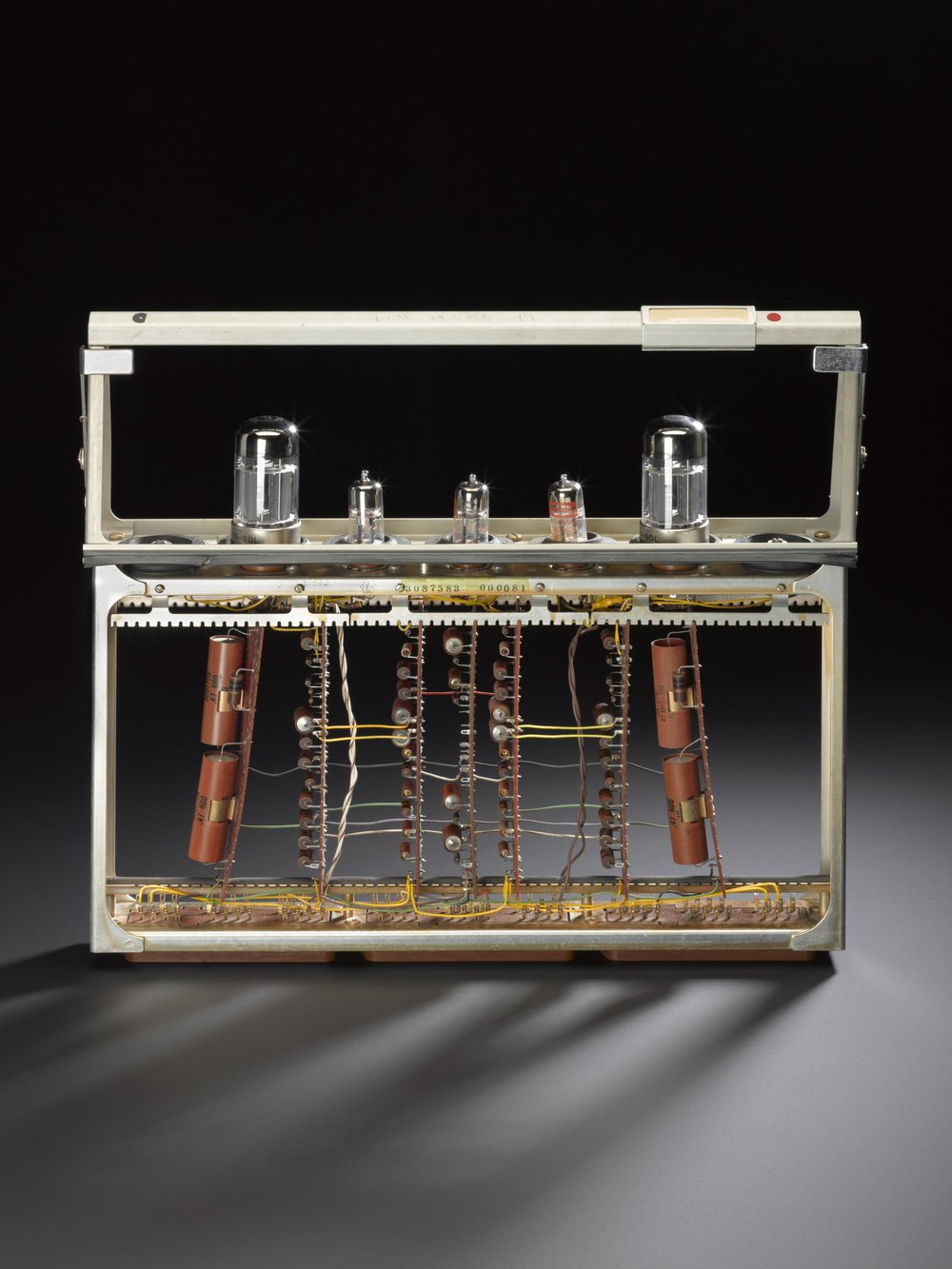Module from SAGE, containing 5 valves and 7 printed circuit boards, made by IBM (1963-1984). More information