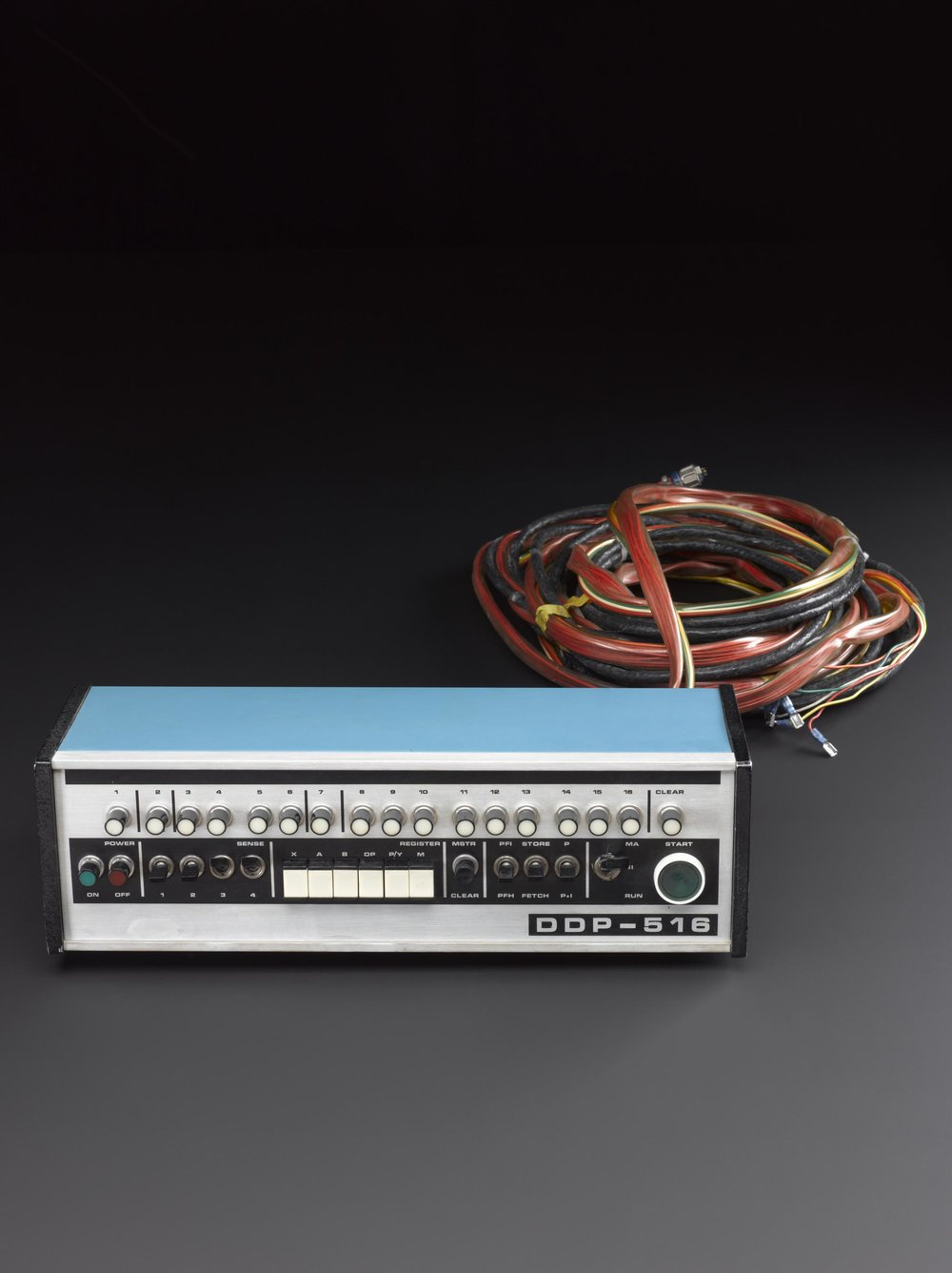 Control unit for Honeywell DDP 516 computer (1966-1970). DDP 516 computers were used as interface message processors (IMPs) in the early ARPANET network. More information