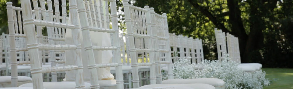 Chairs - £3 per chair - Limewash chivari wedding chairs