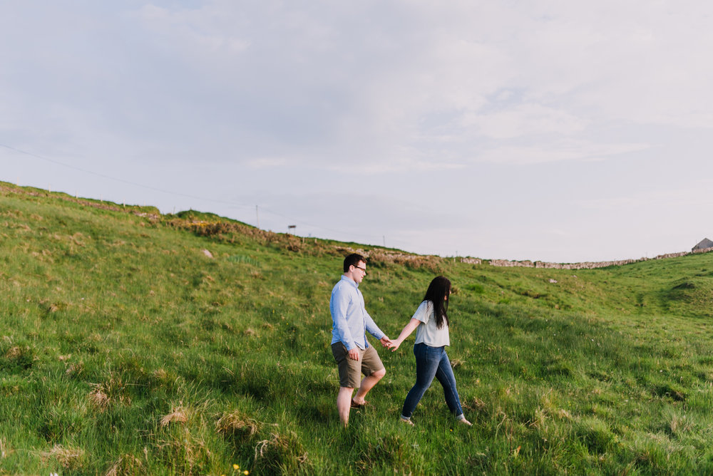 sunset engagement photos by Hello, Sugar taken at Dunluce Castle, Northern Ireland-2.jpg