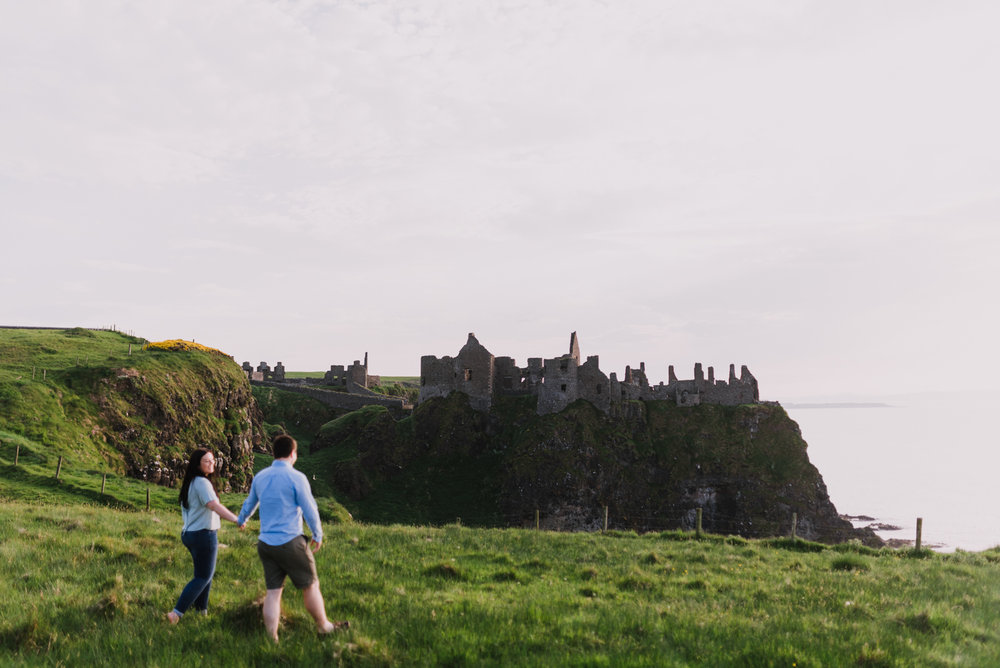 sunset engagement photos by Hello, Sugar taken at Dunluce Castle, Northern Ireland-3.jpg