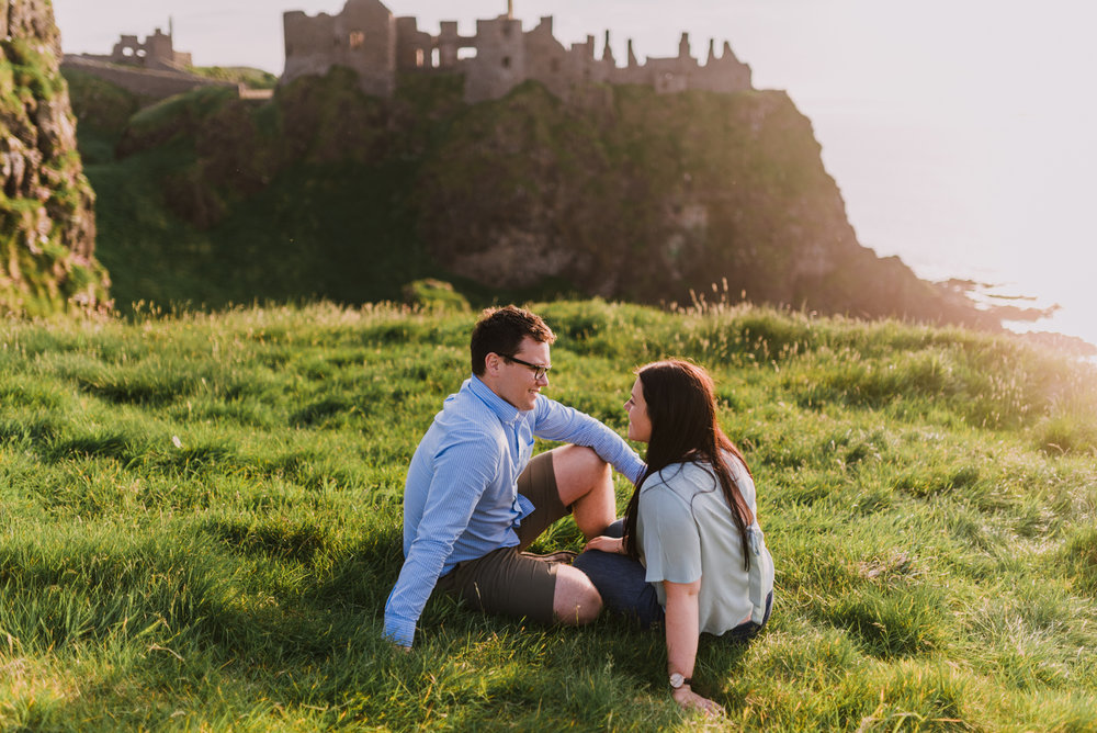 sunset engagement photos by Hello, Sugar taken at Dunluce Castle, Northern Ireland-8.jpg