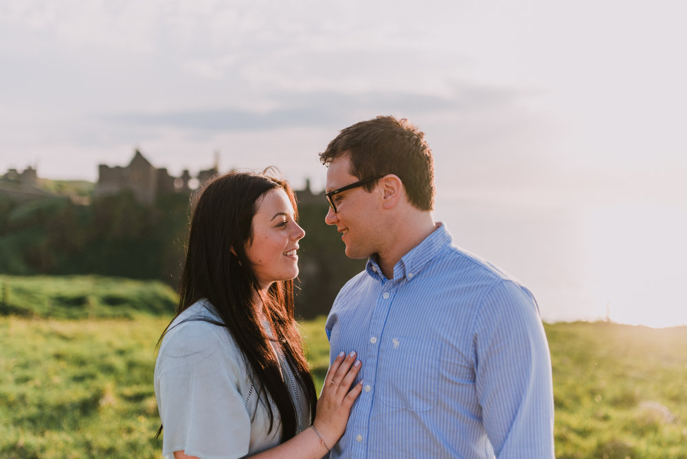 sunset engagement photos by Hello, Sugar taken at Dunluce Castle, Northern Ireland-17.jpg