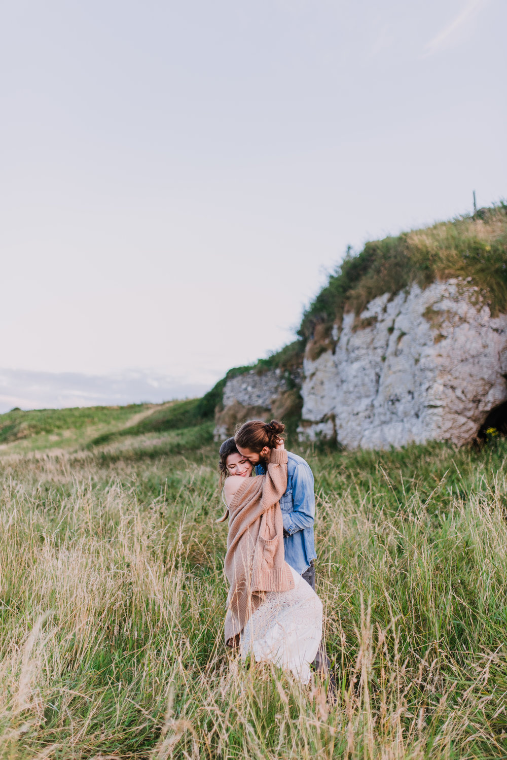 boho styled engagement photoshoot in Islandmagee, Ireland by hello, sugar wedding photography 2.jpg