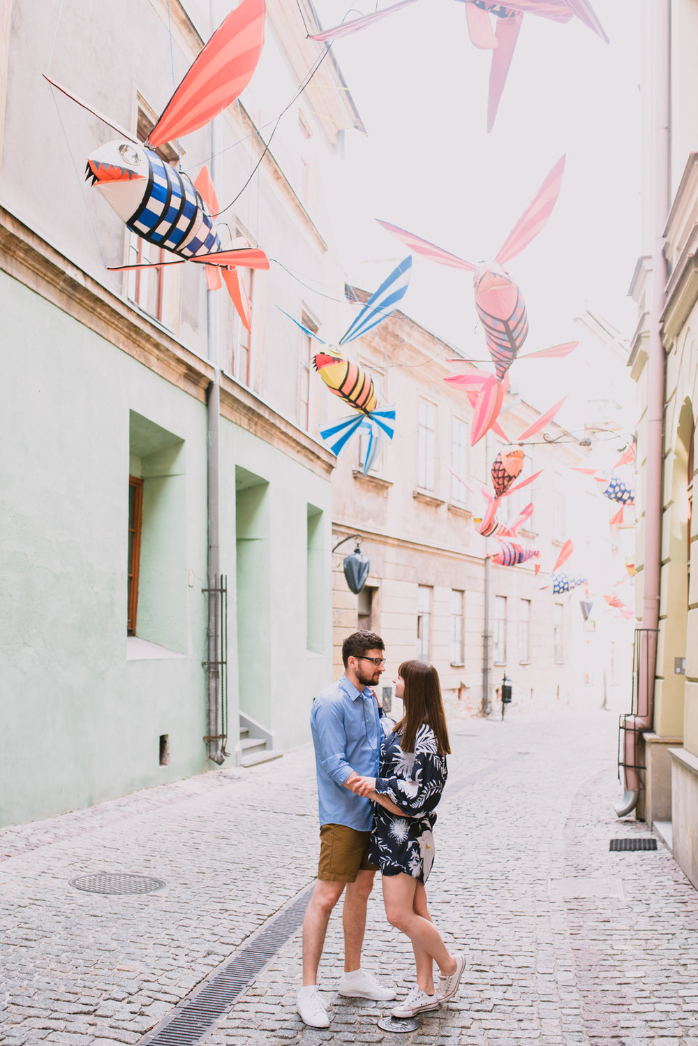 engagement shoot in Lublin Poland, summer engagement shoot in the city, old town engagement photos taken by Hello, Sugar Destination Wedding Photography-2.jpg