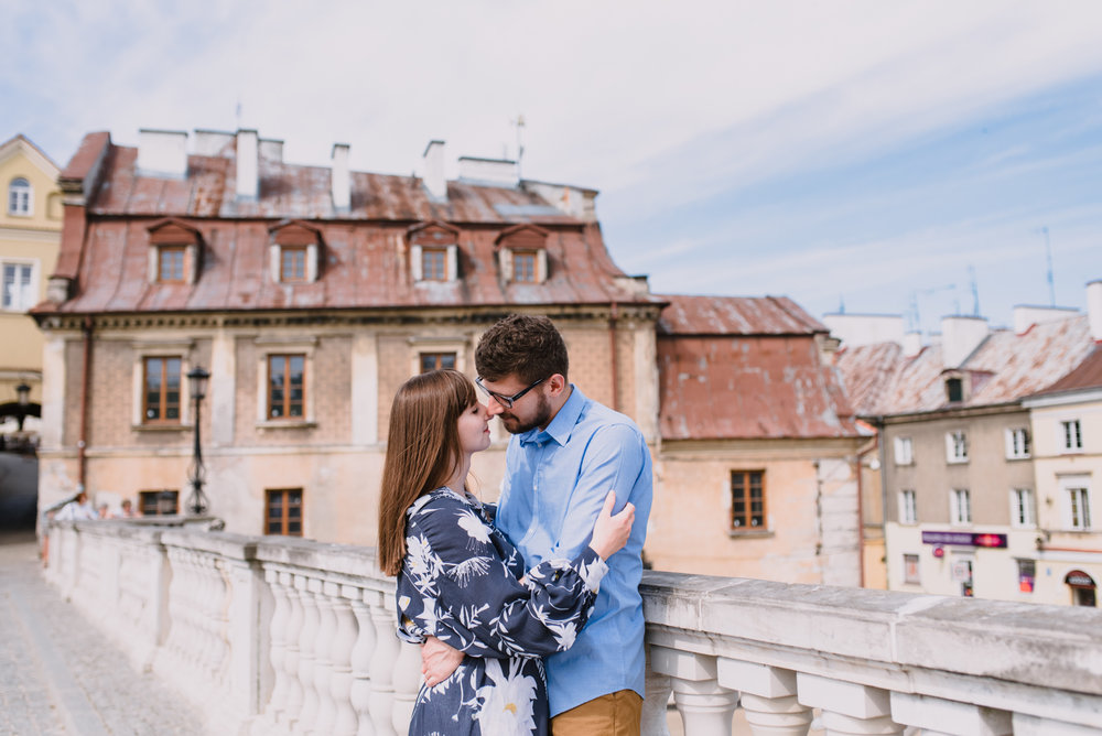 engagement shoot in Lublin Poland, summer engagement shoot in the city, old town engagement photos taken by Hello, Sugar Destination Wedding Photography-9.jpg