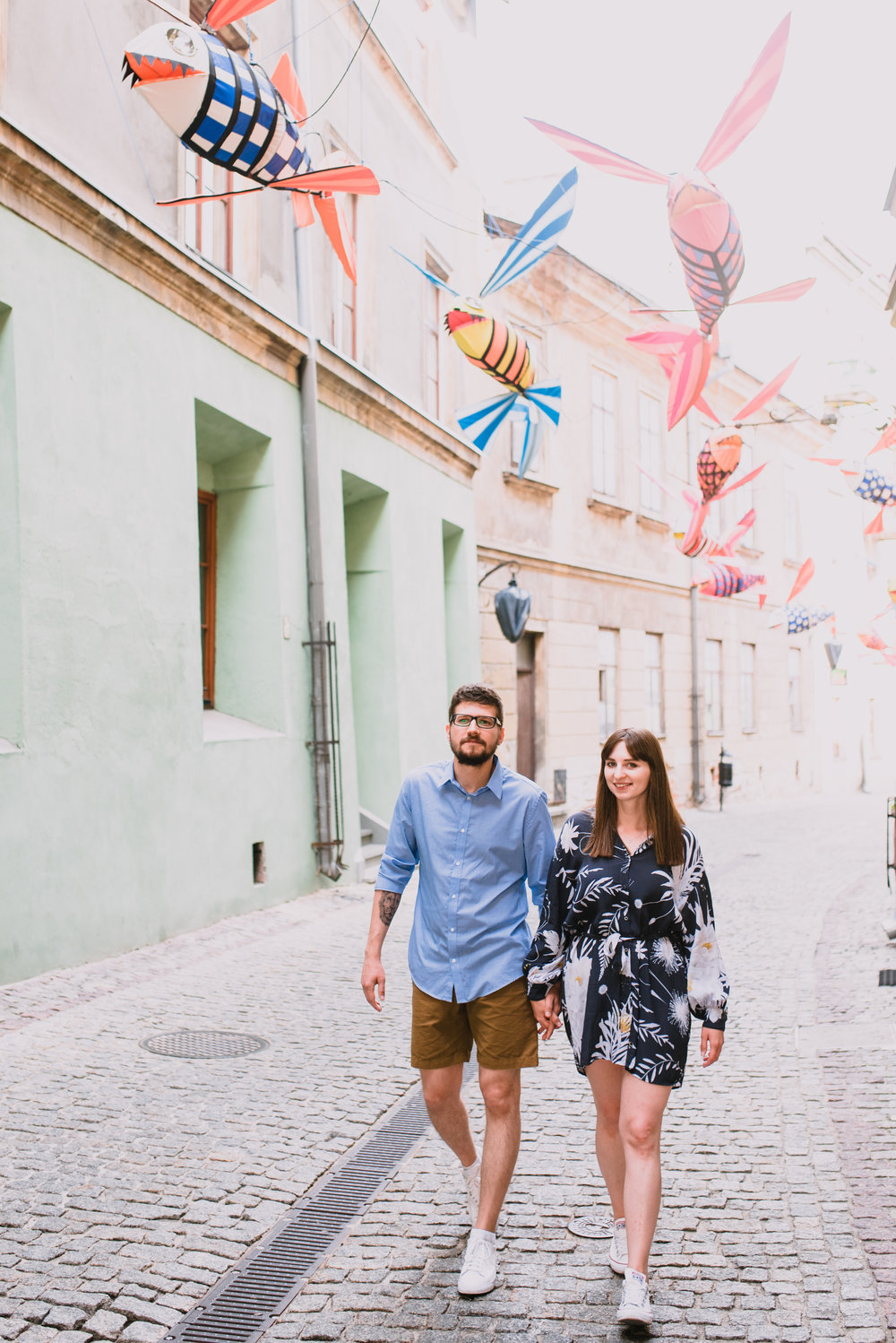 engagement shoot in Lublin Poland, summer engagement shoot in the city, old town engagement photos taken by Hello, Sugar Destination Wedding Photography-0.jpg