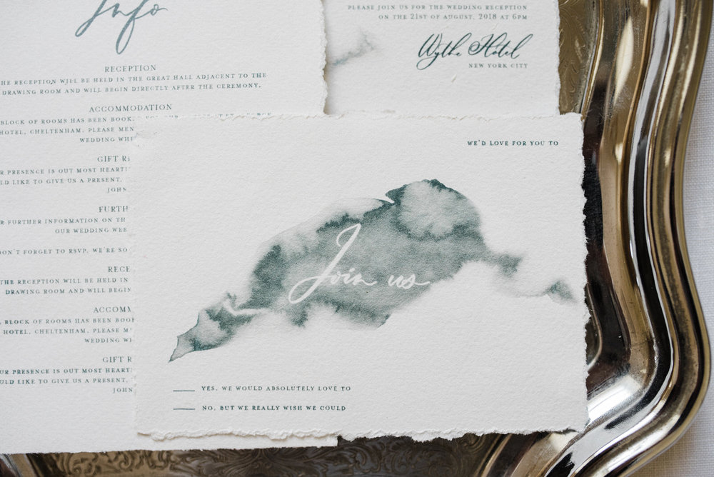 dunluce castle elopement in ireland in sage and white. minimalistic white and green stationery design watercolor wedding stationery-1.jpg