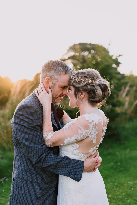 lissanoure castle wedding northern ireland, sunset wedding photos.jpg