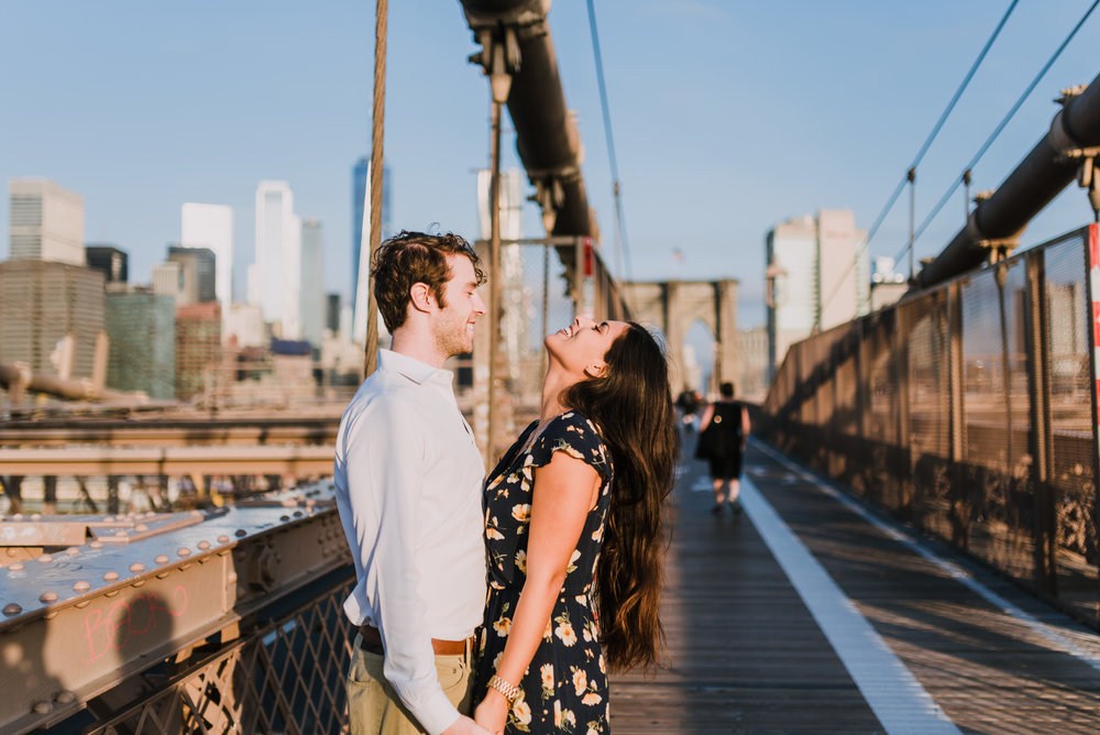 brooklyn bridge engagement shoot, couple shoot nyc, nyc wedding photographer, destination wedding photographer, documentary wedding photographer in nyc (17).jpg