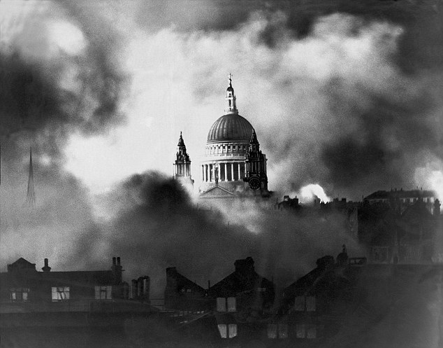 St.Paul's Cathedral survives the Blitz in 1940.