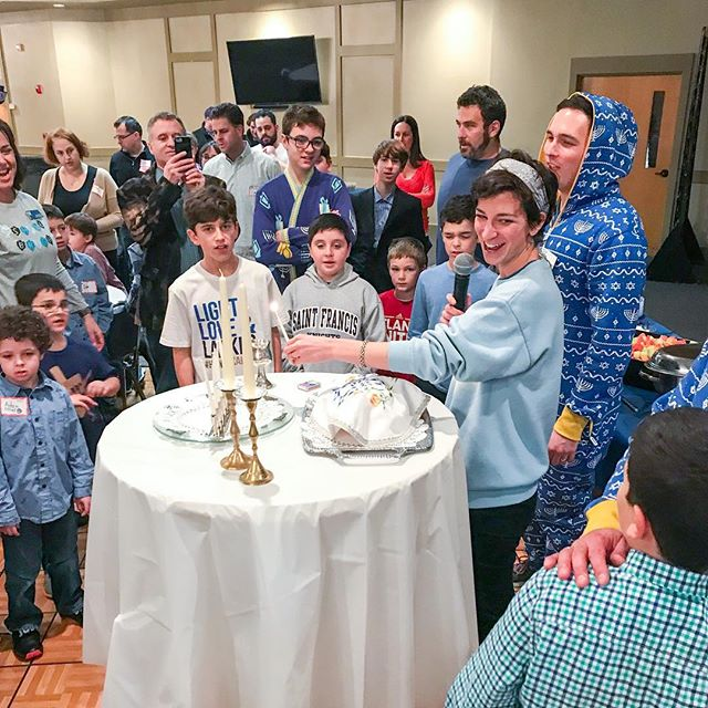 ⠀⠀⠀⠀⠀⠀⠀⠀⠀ 🕎 Yes, that's 1 Rabbi in a Chanukah sweater and 1 Rabbi in a Chanukah onesie. ⠀⠀⠀⠀⠀⠀⠀⠀⠀ ⠀⠀⠀⠀⠀⠀⠀⠀⠀ ✡️ It was such a joy to bring the light of Chanukah in with our @emanuel_atl family this Shabbat. ⠀⠀⠀⠀⠀⠀⠀⠀⠀ ⠀⠀⠀⠀⠀⠀⠀⠀⠀ 🔥Can't say I've ever seen clergy lead in Chanukah onesies, but our team did it with lots of kavod. ⠀⠀⠀⠀⠀⠀⠀⠀⠀ ⠀⠀⠀⠀⠀⠀⠀⠀⠀ 📍Atlanta |📸 @bethmblick | ⠀⠀⠀⠀⠀⠀⠀⠀⠀ ⠀⠀⠀⠀⠀⠀⠀⠀⠀ ⠀⠀⠀⠀⠀⠀⠀⠀⠀ #jewishatl #jewishatlanta #jewish #judaism #jewishlife #rabbi #reformjudaism #religion #faith #spiritual #soul  #chanukah #hanukkah #happychanukah #happyhanukkah #menorah #thisiswhatarabbilookslike #shabbat #shabbatshalom