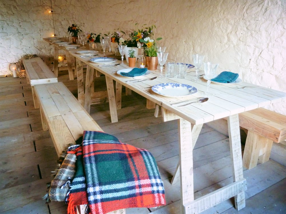 Copy of Skinny Trestle table hire