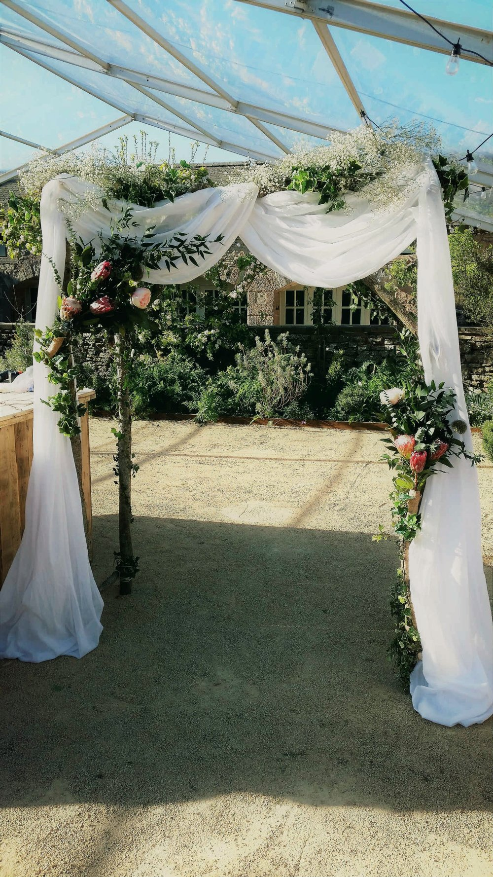Copy of Copy of Rustic wedding arch hire styled