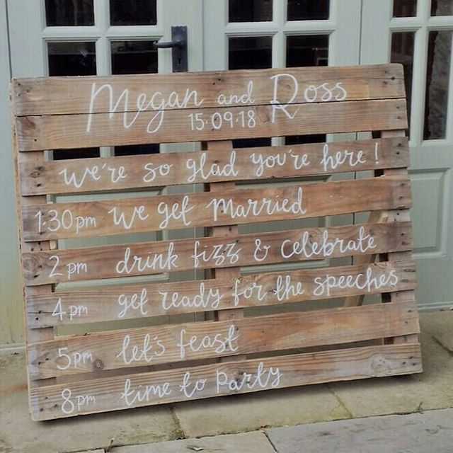 A little break from the rentals as we headed back to the workshop, pulled out the paint & set to adding the finishing touches to signs for M&R's gorgeous wedding last month.