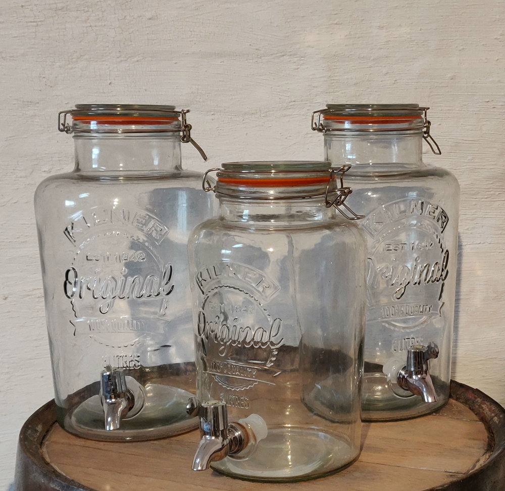 Kilner Drinks dispensers  Hire from £12 - £15 each