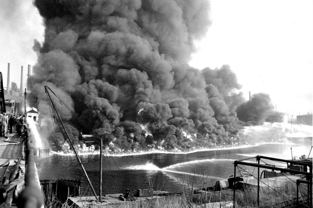 One of Many Cuyahoga River Fires