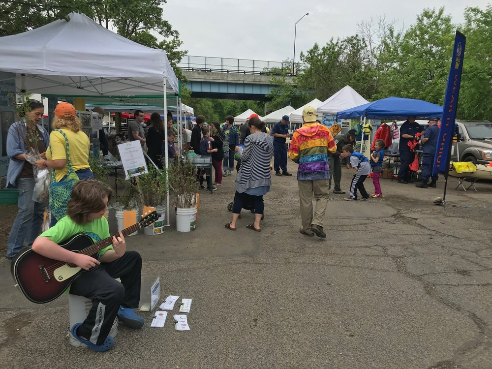 River Day Festivities at the Haymaker Market in Kent. Free Trees, Seeds, Demos, and Groovy Tunes!