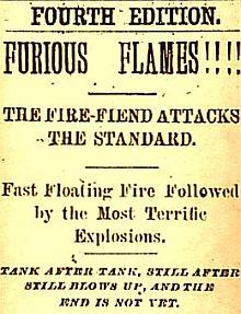 Cleveland Press headlines, circa 1883.